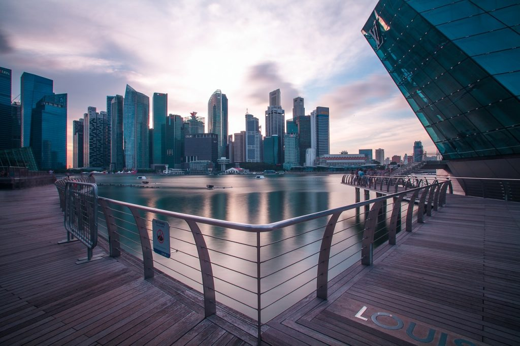 Singapore CBD from the harbour
